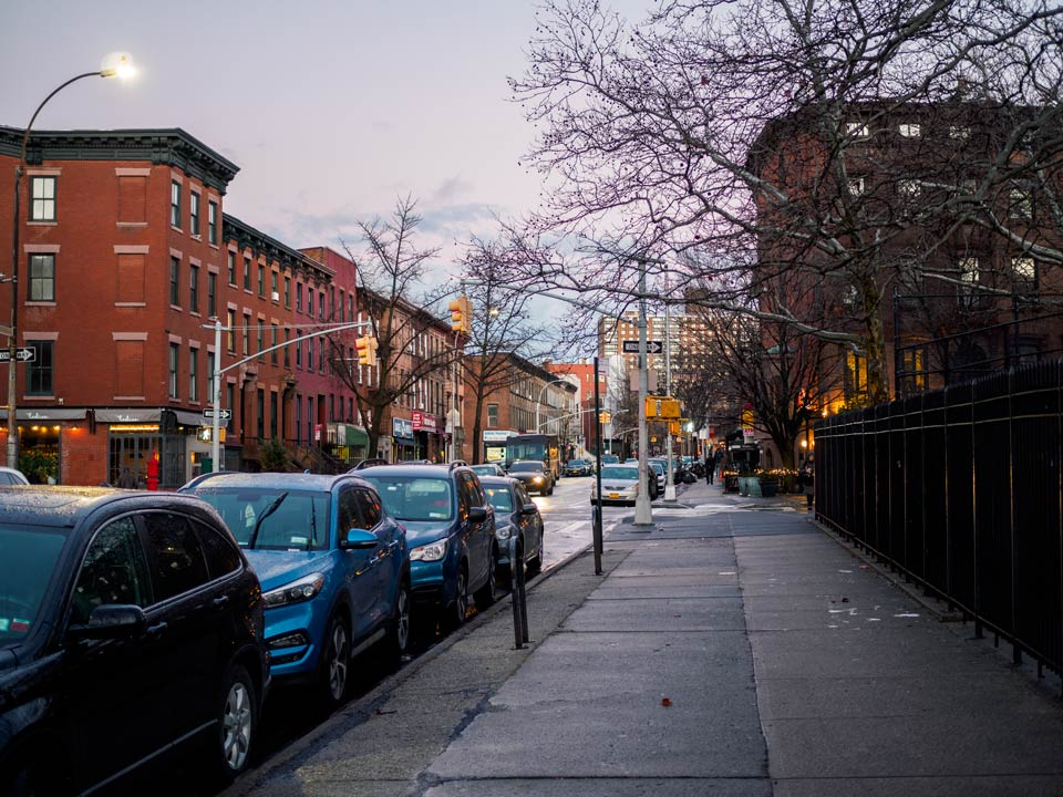 Fort Greene in the twilight